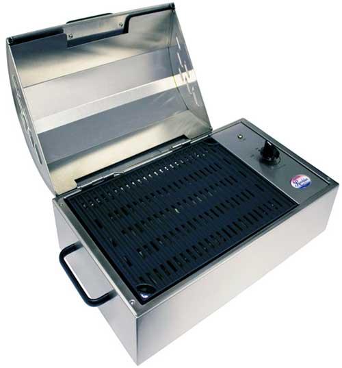 Portable Grill Enclosures : Kenyon revolution grill single burner electric